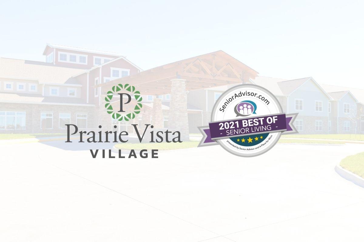 Prairie Vista Village Wins 2021 Best of Assisted Living Award From SeniorAdvisor.com